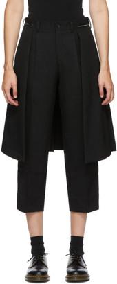 Comme des Garçons Comme des Garçons Black Wool Skirt Drape Trousers