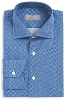 Canali Men's Regular Fit Print Dress Shirt