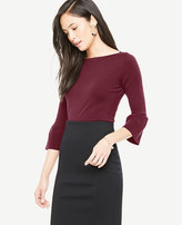 Ann Taylor Petite Bell Sleeve Boatneck Sweater