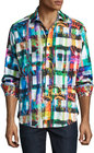 robert graham graphic woven sports shirt multi