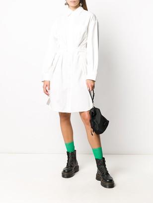 R 13 Belted Shirt Dress