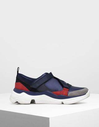 Charles & Keith Velcro Slip-On Sneakers