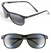Maui Jim Men's 'Voyager - Polarizedplus2' 60Mm Sunglasses - Gloss Black