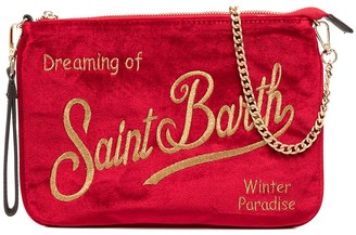 MC2 Saint Barth Textured Embroidered-Logo Bag