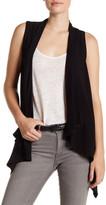 Karen Kane Asymmetrical Hem Sleeveless Sweater Vest