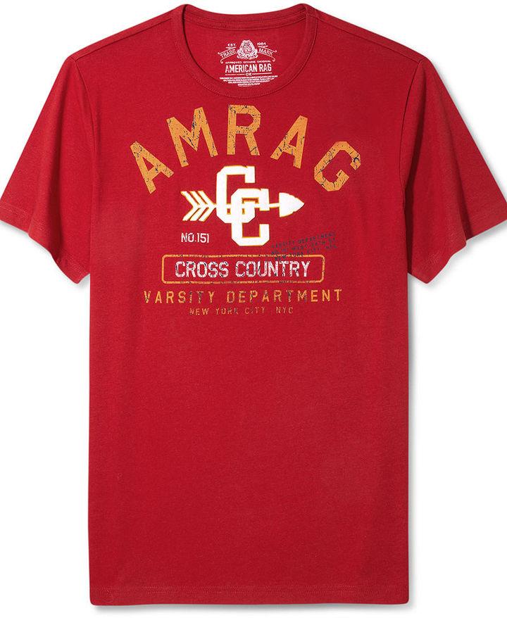American Rag Macy's Shirt, Cross Country Graphic T Shirt