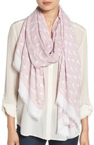 Kate Spade 'swans' Twill Scarf