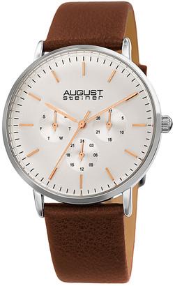 August Steiner Men's Genuine Leather Watch