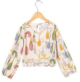 Mini Rodini Girls' Printed Crew Neck Top