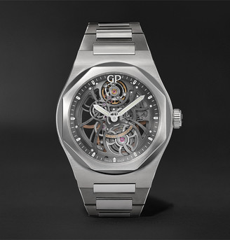 Girard Perregaux Laureato Automatic Skeleton 42mm Stainless Steel Watch, Ref. No. 81015-11-001-11a