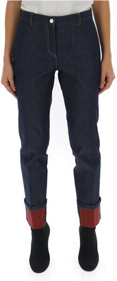 Bottega Veneta Contrast Cuff Jeans