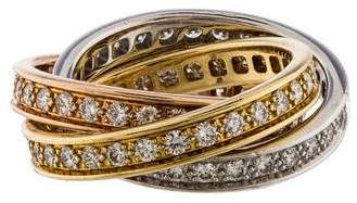 Cartier Diamond Trinity Rolling Ring