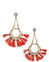 Rebecca Minkoff Women's Utopia Tassel Chandelier Earrings