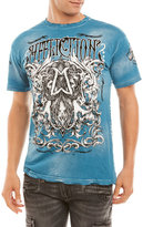 Affliction Blue Cast Into Tee