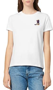 Sandro Boonel Embroidered Tee