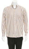 Burberry Striped Button-Up Shirt