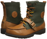 Polo Ralph Lauren Tan & Olive Ranger Hi II Tan Burnished Leather - Toddler
