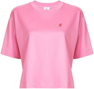 CK Calvin Klein embroidered logo T-shirt