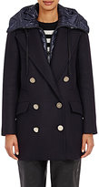 Moncler Women's Double-Breasted Galatea Coat-NAVY