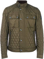 Belstaff band collar quilted jacket