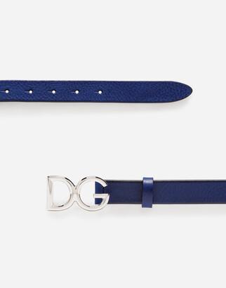 Dolce & Gabbana Tumbled Leather Belt
