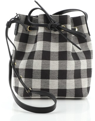 Mansur Gavriel Bucket Bag Gingham Canvas Mini
