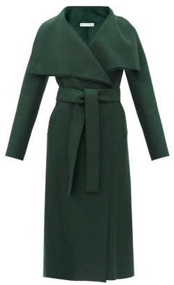 Harris Wharf London Volcano Pressed-wool Coat - Dark Green