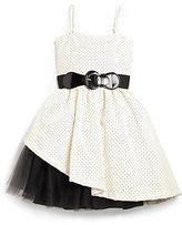 Un Deux Trois Girl's Peek-A-Boo Party Dress