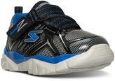 Skechers Toddler Boys' Super Z Strap Wide Running Sneakers from Finish Line