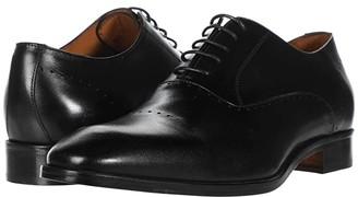 Massimo Matteo Perf Bal Cap Toe (Black) Men's Shoes