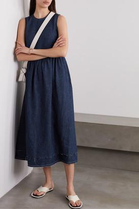 &Daughter Evelyn Hemp Midi Dress - Indigo