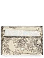 Alexander McQueen Women's Floral Sketch Leather Card Holder - Black