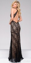 Jovani Fitted Keyhole Back Lace Evening Dress