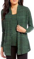 Jones New York Space-Dye Knit Jersey Twofer Knit Top