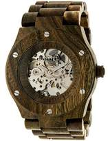 Earth Grand Mesa Collection ETHEW3104 Unisex Wood Watch with Wood Bracelet-Style Band