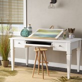 Beachcrest Home Veda Solid Wood Writing Desk