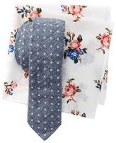 Original Penguin Dot Tie & Floral Pocket Square Boxed Set