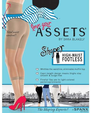 Assets by SPANX ASSETS® by Spanx® Women's High-Waist Footless Shaper 268B