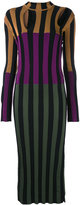 Nina Ricci colour block striped dress - women - Viscose - M