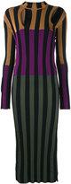 Nina Ricci colour block striped dress - women - Viscose - S