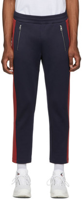 Moncler Navy and Red Jersey Lounge Pants
