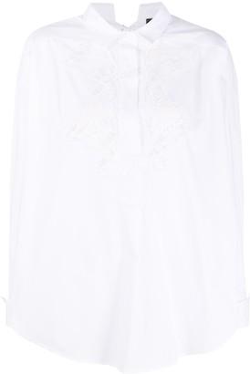 Ermanno Ermanno Oversized Lace Long-Sleeve Shirt