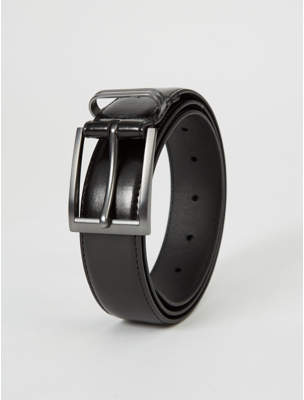 George Black Pewter Effect Buckle Formal Belt