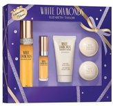 Elizabeth Taylor White Diamonds 5 Piece Gift Set (Eau De Toilette Spray 1.7 Oz, 0.33 Oz, Mini & Perfumed Body Lotion 1.7 Oz & 2x Perfumed Soaps) for Women, 1.7 fl. Oz.