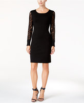 Calvin Klein Petite Lace-Sleeve Sweater Dress