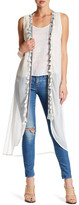 Steve Madden Embroidered Trim Vest