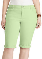 Chaps Plus Stretch Cotton Five-Pocket Short