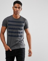 French Connection 5 Stripe T-shirt With Pocket