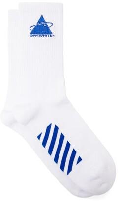 Off-White Off White Triangle Planet Cotton Blend Socks - Mens - White Multi