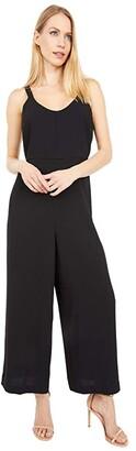 Madewell Scoop-Neck Wide-Leg Jumpsuit (True Black) Women's Jumpsuit & Rompers One Piece